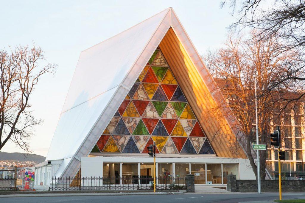Catedral de papelão em Christchurch  Prêmio Pritzker