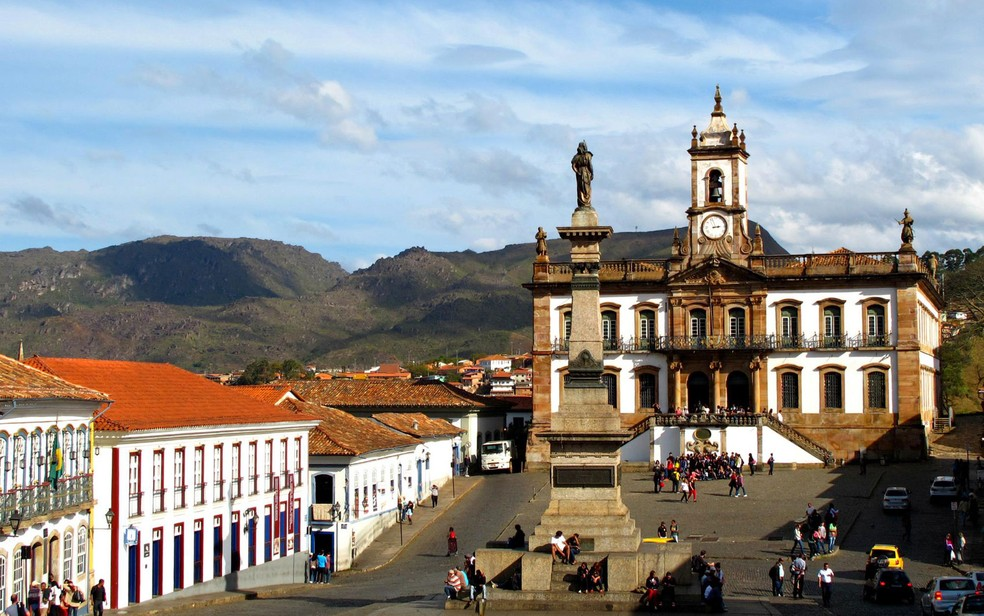 Imagem de área tombada em Minas Gerais, centro histórico de ouro preto