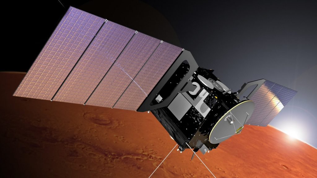 Representação do MarsExpress. Fonte: ESA.