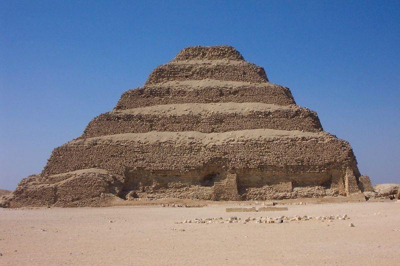 arquitetura da antiguidade Pirâmide de Sacara