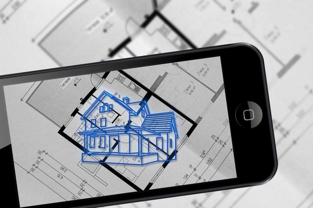 projeto em tela de celular smartphone