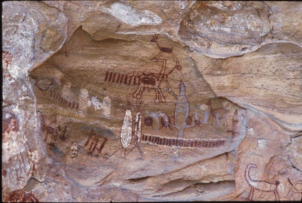 Inscrições rupestres no Parque Nacional da Serra da Capivara.