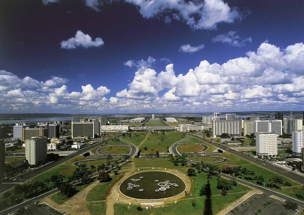Imagem aérea de brasilia, local que passou por tombamento