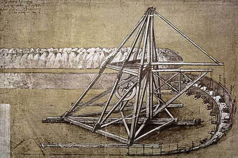 Maquina Escavadora desenvolvida por Leonardo da Vinci