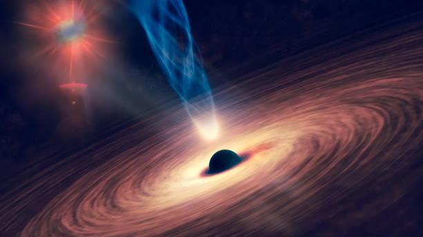 Representação artística de um buraco negro