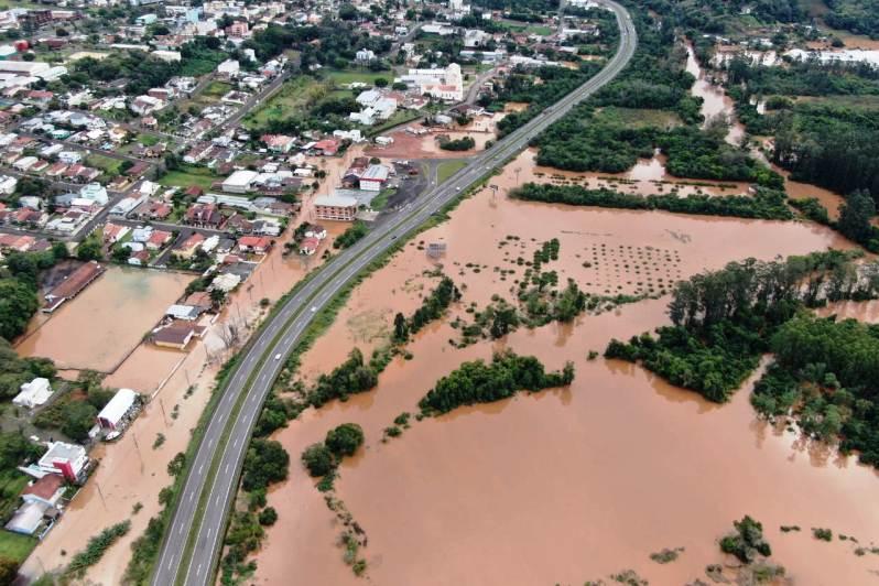 área inundada