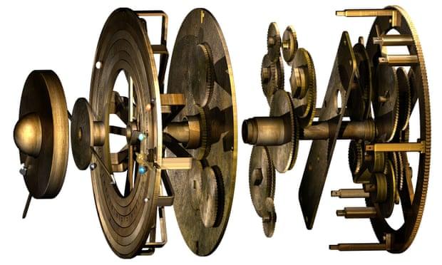 reconstituição em 3D de dispositivo de Antikythera