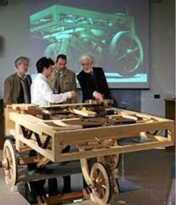 Carro a auto propulsão de Leonardo da Vinci
