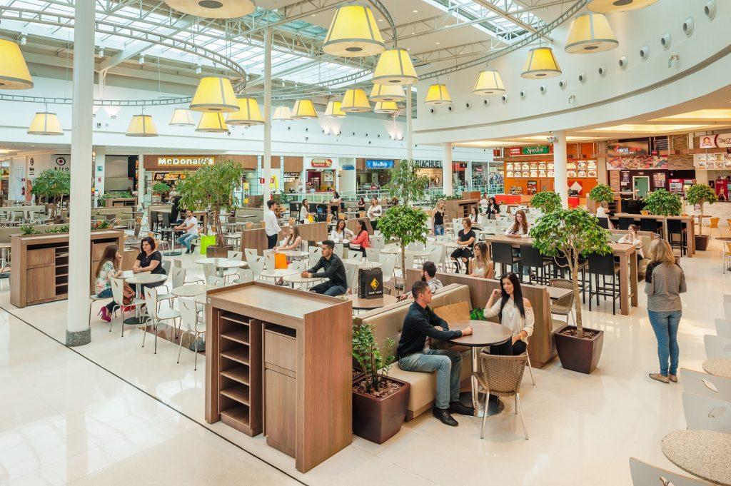 arquitetura temática Praça de alimentação shopping arquitetura do lazer
