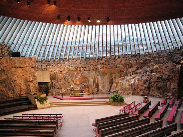Interior templo moderno
