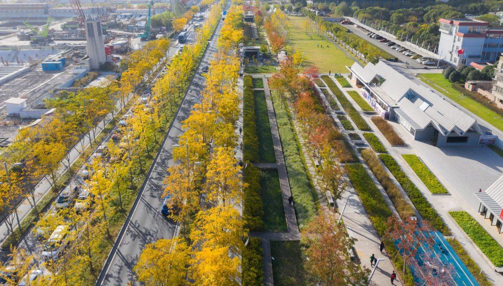 Vista de cima do Xuhui Runway Park