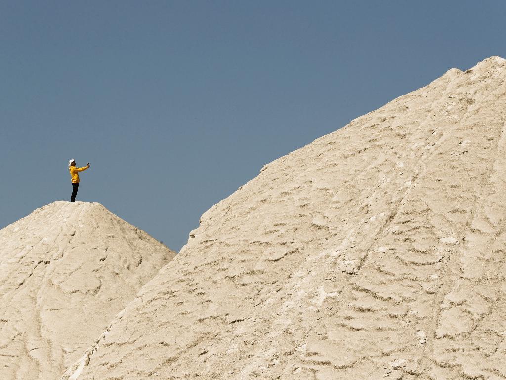 montanhas de sal