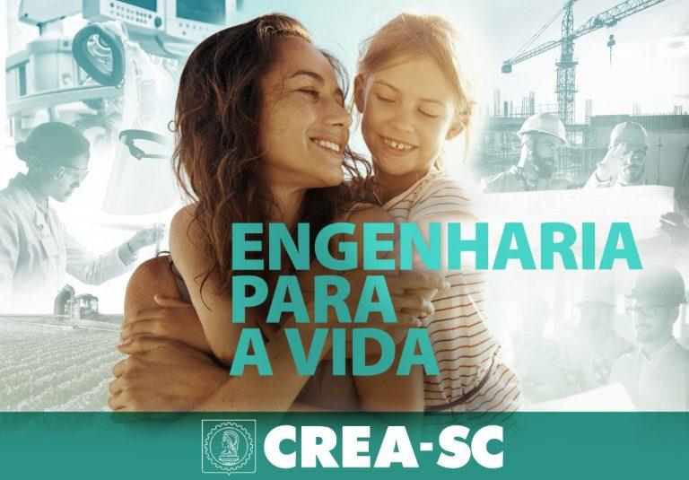 Poster da campanha Engenharia para a Vida
