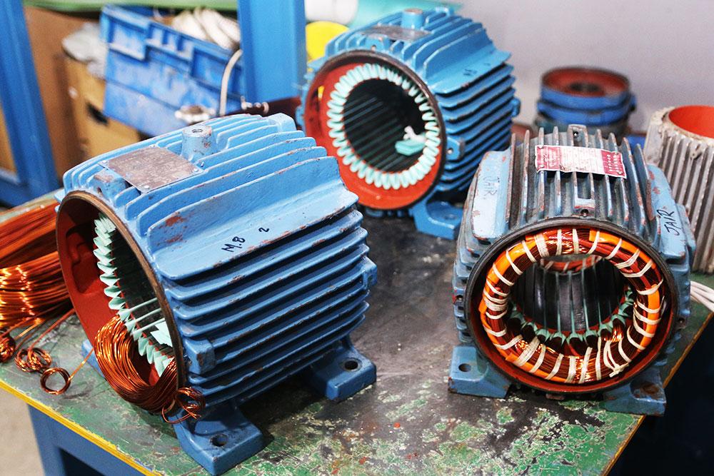 Estatores de motores elétricos trifásicos