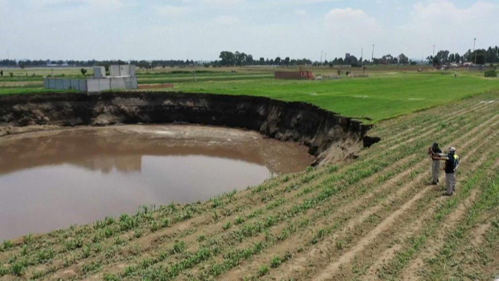 Cratera em Puebla (MEX)