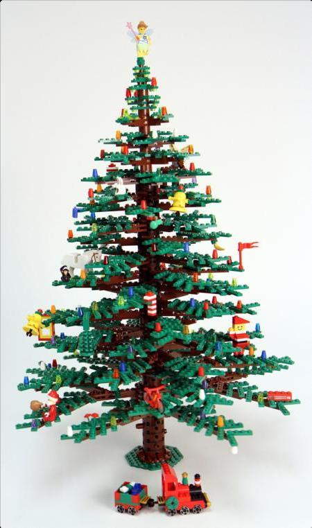 árvores de Natal engenharia feita com lego