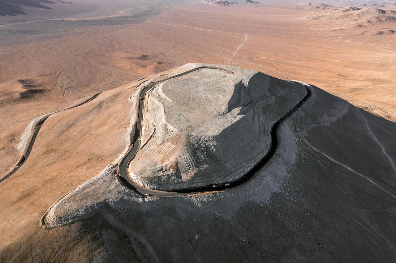 Imagem aérea do Cerro Armazones