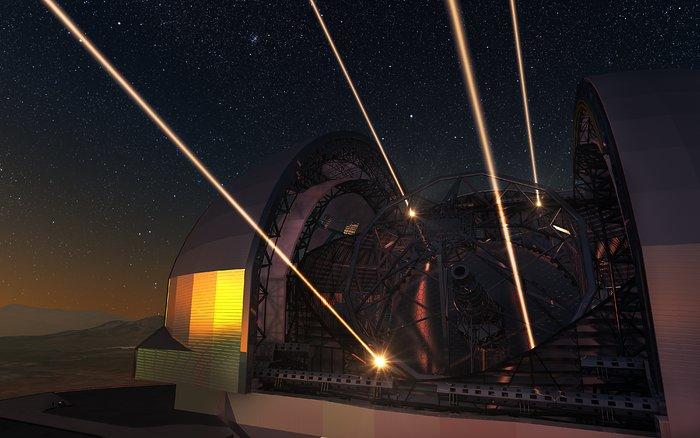 Imagem gráfica de como será o telescópio