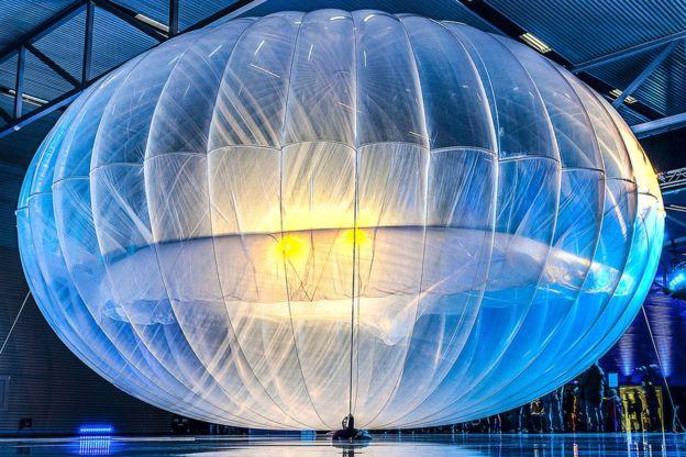 Imagem do balão em área fechada